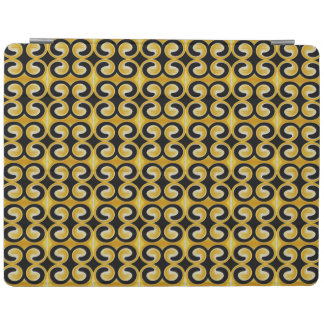 Stilvolles königliches gelbes schwarzes Muster iPad Hülle