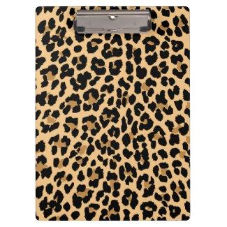 Stilvolles Leopard-Druck-Klemmbrett