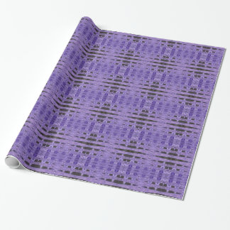 Stilvolles lila schwarzes Muster Geschenkpapier