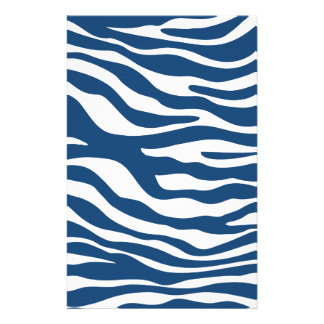 Stilvolles Marine-Blauzebra-Druck-Muster Büropapiere