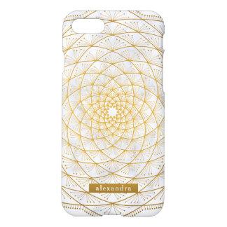 Stilvolles Marmor-und GoldMandala-Muster iPhone 8/7 Hülle