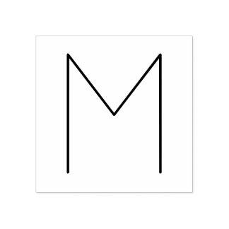 Stilvolles modernes unbedeutendes Monogramm Gummistempel