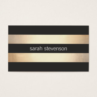 Stilvolles mutiges Gold und schwarzes gestreiftes Visitenkarten