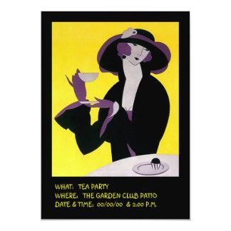 Stilvolles Nachmittags-Einladungs-Party Karte