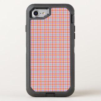 Stilvolles orange kariertes Muster OtterBox Defender iPhone 8/7 Hülle