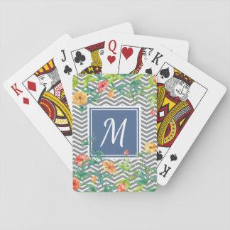 Stilvolles orange Zickzack Spielkarten