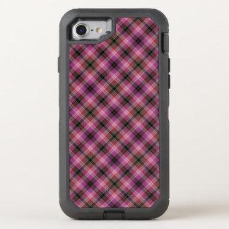 Stilvolles rosa kariertes Muster OtterBox Defender iPhone 8/7 Hülle