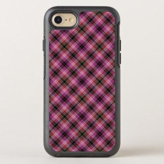 Stilvolles rosa kariertes Muster OtterBox Symmetry iPhone 8/7 Hülle