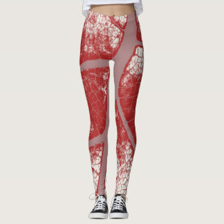 Stilvolles rotes Blatt Leggings