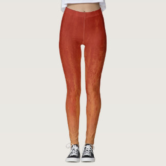 Stilvolles rotes Ombre Muster Leggings