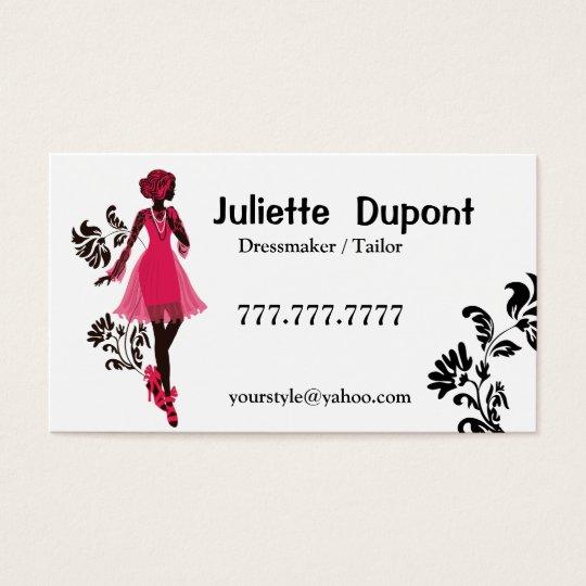 Stilvolles Schneider-Damenschneiderinweiß Visitenkarte