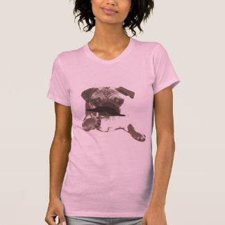 Stilvolles Schnurrbart-Mops-Shirt T-Shirt