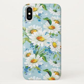 Stilvolles schönes helles Blumenmuster 2 iPhone X Hülle