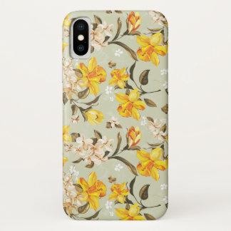 Stilvolles schönes helles Blumenmuster iPhone X Hülle