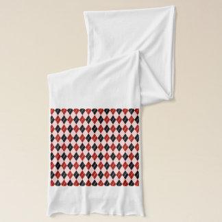 Stilvolles schwarze und rote Rauten-kariertes Schal