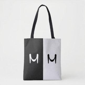 Stilvolles schwarzes u. weißes Doppeltes Tasche
