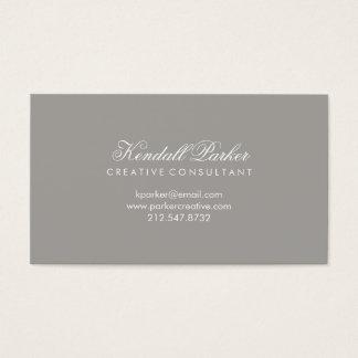 Stilvolles und einfaches tiefes Grau Visitenkarten