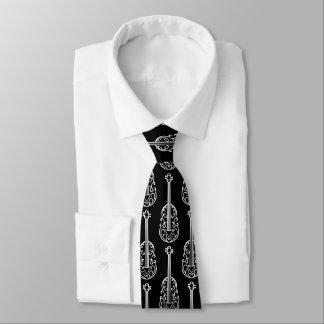 Stilvolles Violinenmuster Krawatte