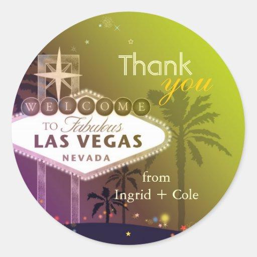 Stilvolles Wedding Las Vegas danken Ihnen, Aufkleb Runde Aufkleber