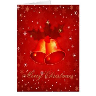 Stilvolles Weihnachten Bell ein elegantes Karte
