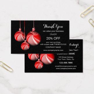 Stilvolles Weihnachten danken Ihnen Visitenkarte