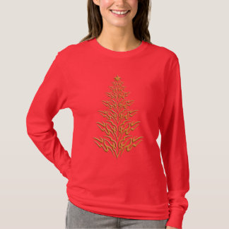 Stilvolles Weihnachtsbaum-Shirt T-Shirt