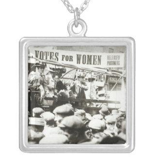 Stimmen für Frauen, im August 1908 Halskette Mit Quadratischem Anhänger