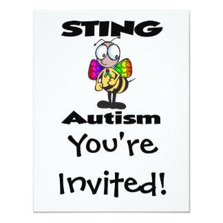 STING-Autismus 10,8 X 14 Cm Einladungskarte