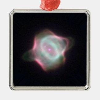 Stingray-Nebelfleck die leuchtende NASA Quadratisches Silberfarbenes Ornament