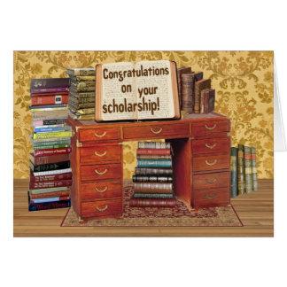 Stipendium-Glückwünsche Karte