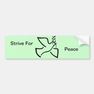 Stive für Friedenstauben-Ölzweig-Symbol Autoaufkleber
