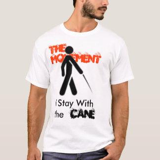 Stock, bleibe ich mit, Stock, die Bewegung T-Shirt