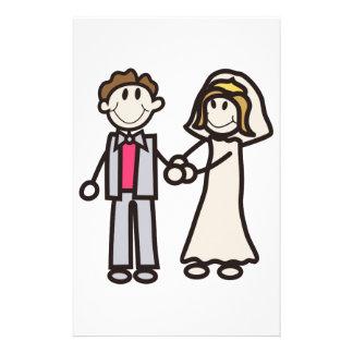 Stock-Braut u. Bräutigam Briefpapier