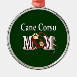 Stock Corso Hundemamma Silbernes Ornament
