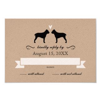Stock Corso Silhouetten, die Antwort UAWG Wedding 8,9 X 12,7 Cm Einladungskarte