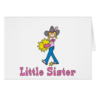 Stock-Cowgirl-kleine Schwester Karte