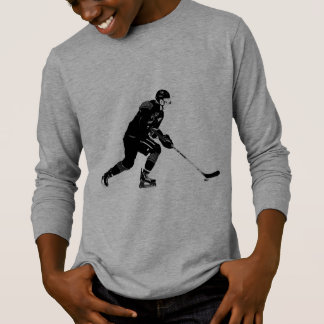 Stock, der Proeis-Hockey-Spieler behandelt T-Shirt