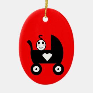 Stock-Familien-Baby Keramik Ornament