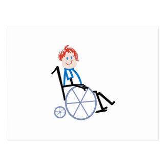 Stock-Rollstuhl-Kind Postkarte