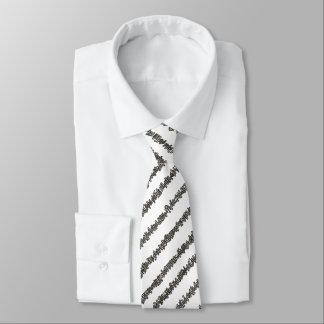 Stöcke und Stein-Schwarzweiss-abstraktes Bedruckte Krawatte