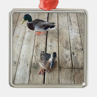 Stockenten-Ente bei Lake Mead Silbernes Ornament