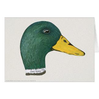 Stockenten-Ente (Drake), Aquarell Karte