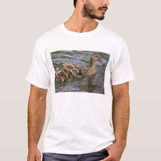 Stockenten-Ente Frau und chicksAnas T-Shirt