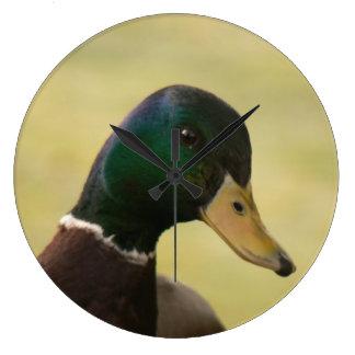 Stockenten-Ente Große Wanduhr