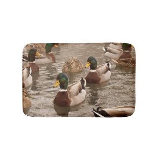 Stockenten-Enten auf Teich-Bad-Duschen-Matte Badematten