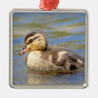 Stockenten-Entlein Silbernes Ornament