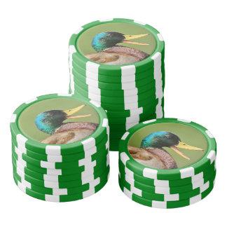 Stockentenentenporträt Poker Chips