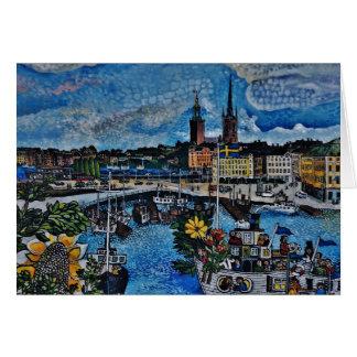 Stockholm irgendeine Gelegenheits-Karte Grußkarte