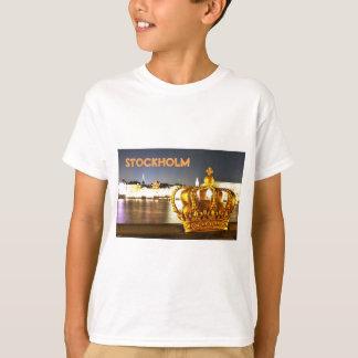 Stockholm, Schweden am Weihnachten nachts T-Shirt