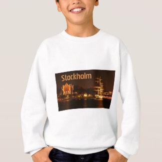 Stockholm, Schweden nachts Sweatshirt